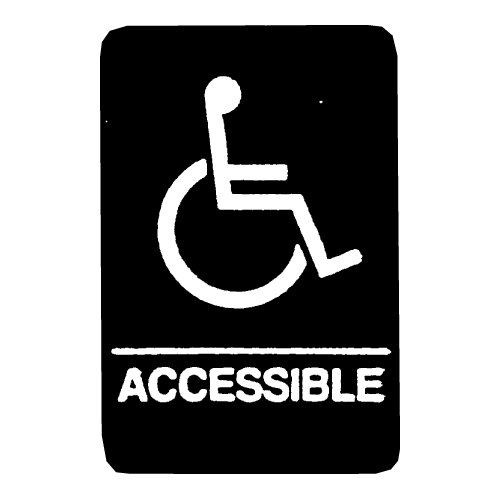 ada accessible sign with graphic