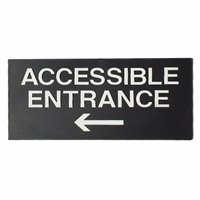 Accessible Entrance  with left Arrow