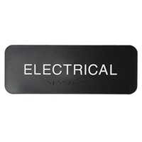 Electrical sign with ADA Braille  3x8