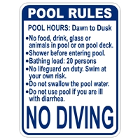 Florida Standard Pool Rules Sign-firstsign