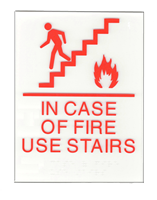In Case of fire use stairs - ADA red copy