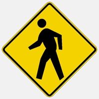 W11-2 Pedestrian Crossing Reflective Warning Sign