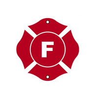 "FLOOR Truss sign"" F"" - Fire Safety - 9""x 9"" Reflective"