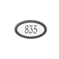 Reflective- Concord Oval Address Plaque