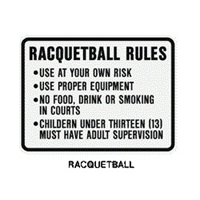 "Racquetball Rules.... 24""x18"" (up to 5 lines of copy) RQB-24"