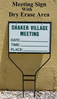 community sign for board meeting notice in florida first sign