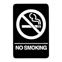 "ADA No Smoking Braille Sign 9""x6"""
