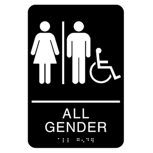 All Gender ADA Accessible Restroom_Black_9x6
