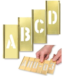 Brass Stencil Kit - 45 pc - Interlocking many sizes available