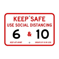 COVID19_Keep Safe Distance_12x18-sign-FirstSign