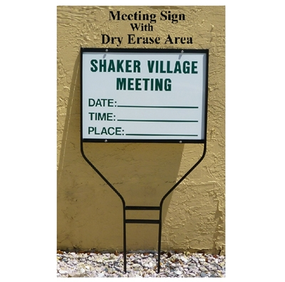 Hoa Amp Condo Meeting Signs In Florida First Sign