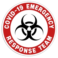 "Coronavirus Decal ""Covid-19 Emergency Response Team"" Sticker corona virus decals, Covid-19 Stickers, Stickers"