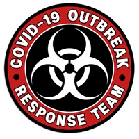 "Coronavirus Decal ""Covid-19 Outbreak Response Team"" Sticker outbreak, response team, corona virus decals, covid-19, stickers, labels"