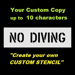 Custom stencil up to 10 characters