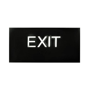 EXIT sign with ADA Braille  3x6