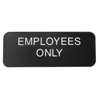 Employees-Only Sign with Braille Firstsign.com