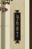 Vertical address Plaque 3003BG Exeter