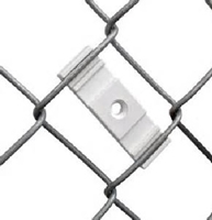 grooved bracket holds sign secure on fence includes sign bolt