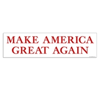 Make America Great Again Political Decal / Bumper Sticker donald trump, make america great again, trump, president, presidental, election, political, candidate, decals, bumper sticker, label