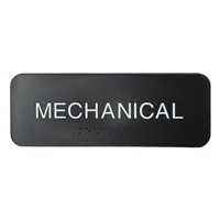 Mechanical sign with ADA Braille  3x8