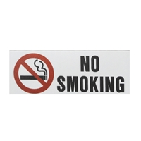 No Smoking symbol sign 3x8
