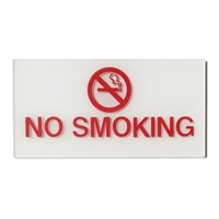 No Smoking symbol ADA Braille sign 3x6