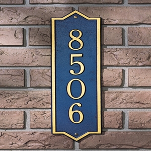 Norfolk Vertical address plaque 3009DG
