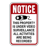 Notice Video Surveillance Sign with Camera graphic