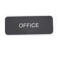 Office sign with ADA Braille  3x8