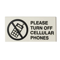 Please Turn off Cell Phone sign 3x6
