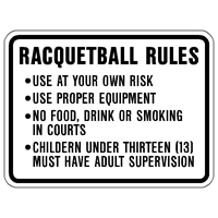 Racquetball Rules Sign 24x18 up to 5 lines of copy) RQB-24
