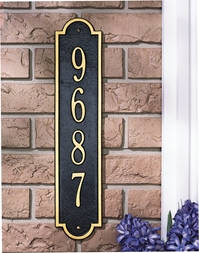 Richmond Vertical address plaque 3007BW