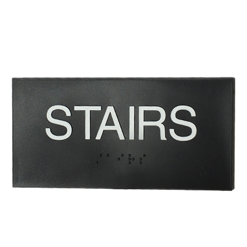 Stairs sign ADA Braille 3x6