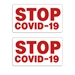 """STOP COVID-19"" Decal / Sticker (Set of 2) - COR-STP-COV-RED"