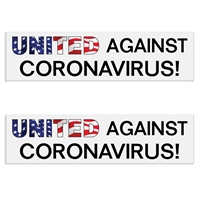 """United Against Coronavirus"" Decal / Bumper Sticker (Set of 2) corona virus decals, United Against Coronavirus Stickers, Covid-19 Decal"