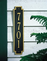 Windsor Vertical address plaque 3005BG