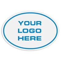 """Your Company Logo Here"" Custom Decal / Sticker custom, promo, enter text, customized, your text, company logo, decal, sticker"
