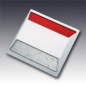 RPM-921-ARC-RW Red-White Road Pavement Marker  Bidirectional