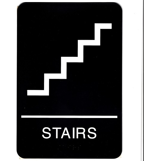"ADA Stairs Braille Sign 9""x6"""