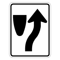 Keep Right Symbol R4-7 Keep-Right-Sign,Bullnose-Traffic-Sign,Traffic-must-keep-Right-used-at-Median-or-island-in-roadway