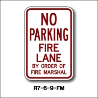 "No Parking Fire Lane Fire Marshal R7-6-9FM 18""x12"""