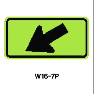 W16-7P FYG_arrow sign