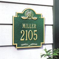"Golf Emblem Address Plaque 10.75"" x 11.5"""