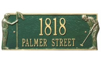 "Golf Greens Address Plaque 17"" x 7"""