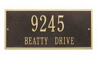 "Hartford Address Plaque 16"" x 7.25"""