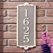 Lyon  Address Plaque  Cast Aluminum   Vertical
