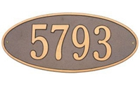 "Madison Oval Address Plaque 17.5"" x 7.75"""