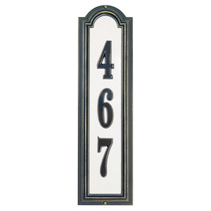 Reflective- Manchester Vertical Address Plaque