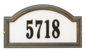 Reflective- Providence Arch Address Plaque