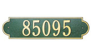 "Richmond Horizontal Address Plaque 19"" x 4"""